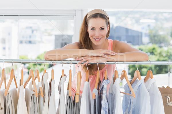 Belo feminino moda estilista cremalheira roupa Foto stock © wavebreak_media