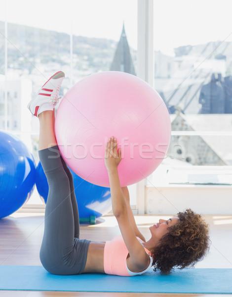 スポーティー 女性 行使 ボール フィットネス スタジオ ストックフォト © wavebreak_media