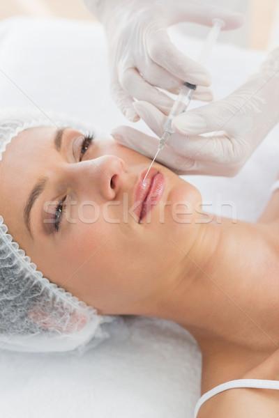 Donna botox iniezione labbra primo piano bella Foto d'archivio © wavebreak_media