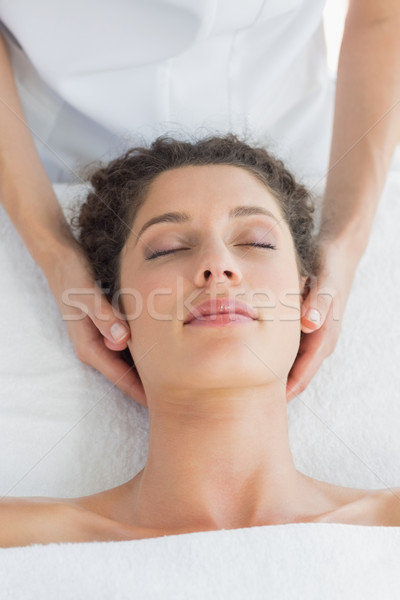 Relaxed woman receiving massage Stock photo © wavebreak_media