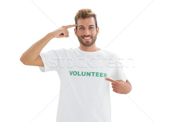 Retrato sonriendo jóvenes masculina voluntario blanco Foto stock © wavebreak_media