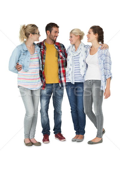 Full length of casually dressed young people Stock photo © wavebreak_media