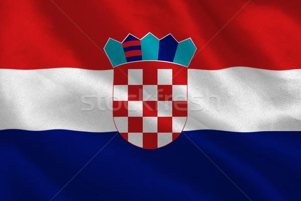 Hırvatistan bayrak Stok fotoğraf © wavebreak_media