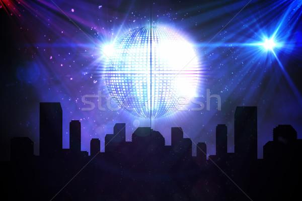 Cyfrowo wygenerowany disco ball Cityscape strony miasta Zdjęcia stock © wavebreak_media