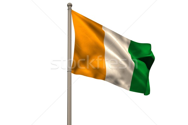 Digitálisan generált Elefántcsontpart zászló fehér Stock fotó © wavebreak_media