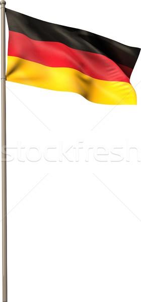 Dijital oluşturulan bayrak beyaz Stok fotoğraf © wavebreak_media