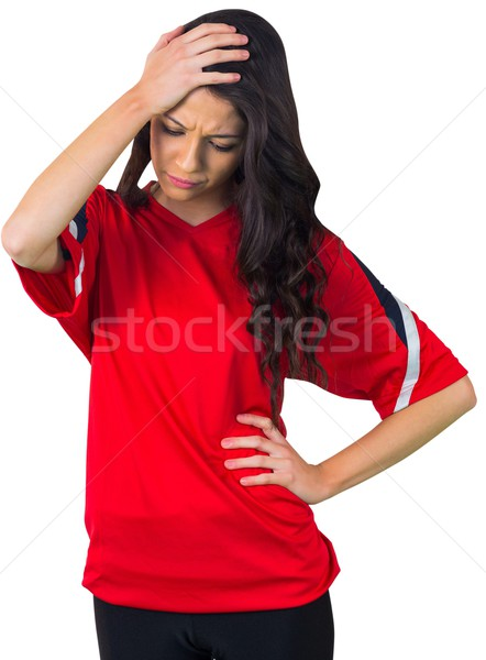 Disappointed football fan in red Stock photo © wavebreak_media