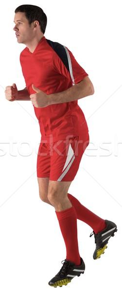 Futballista piros fut fehér férfi futball Stock fotó © wavebreak_media