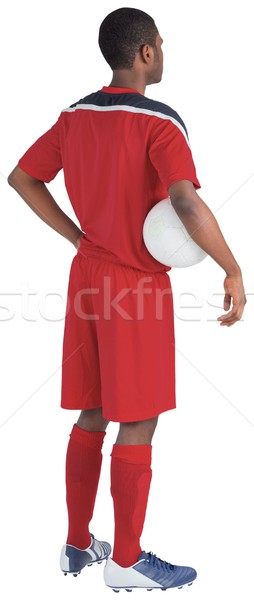 Handsome football player in red jersey Stock photo © wavebreak_media
