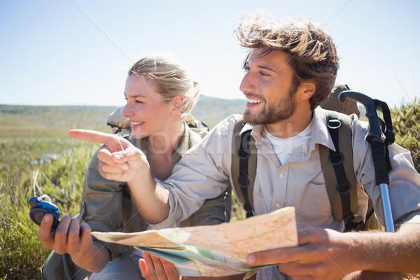 походов пару перерыва горные местность Сток-фото © wavebreak_media