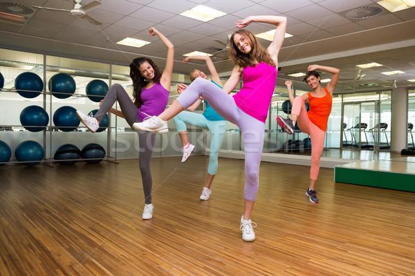Zumba klasy taniec studio siłowni sportu Zdjęcia stock © wavebreak_media