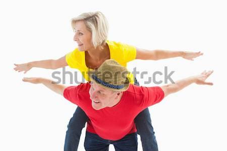 Volwassen paar grapje samen witte leuk Stockfoto © wavebreak_media