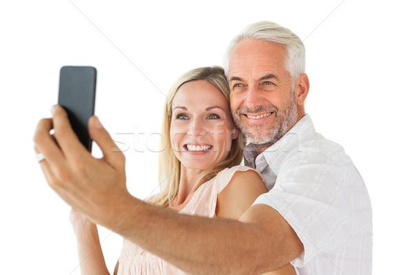 счастливым пару позируют женщину любви весело Сток-фото © wavebreak_media