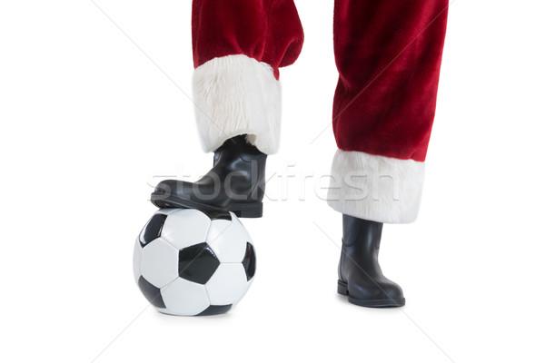 Santa Claus is playing soccer Stock photo © wavebreak_media