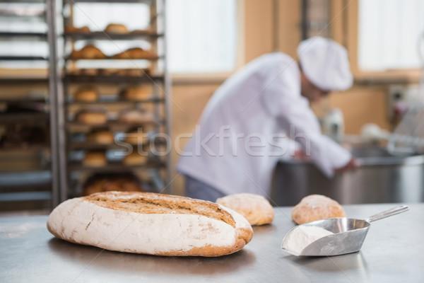 Бейкер промышленных смеситель хлебобулочные бизнеса отель Сток-фото © wavebreak_media