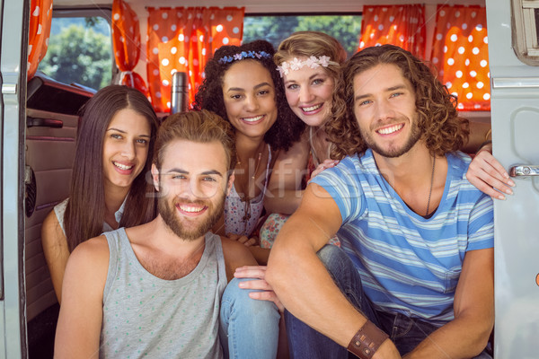 Hipster friends in a camper van Stock photo © wavebreak_media