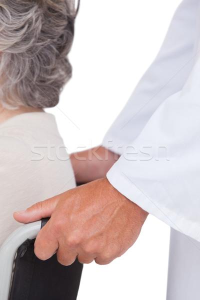 Orvos toló beteg tolószék fehér nő Stock fotó © wavebreak_media