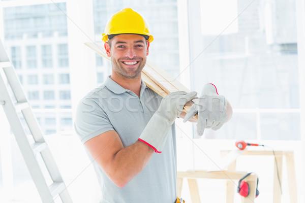 Manual trabajador edificio retrato Foto stock © wavebreak_media