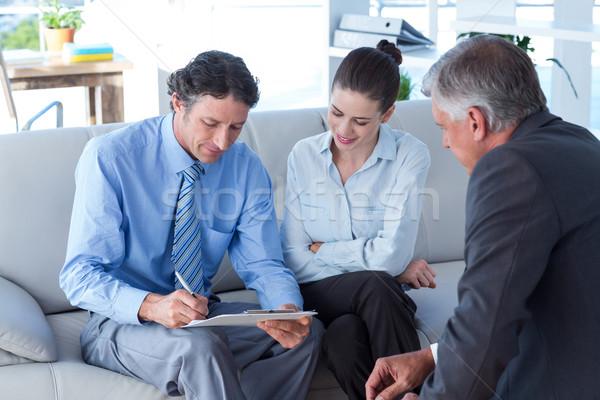 Couple réunion financière conseiller salon affaires Photo stock © wavebreak_media