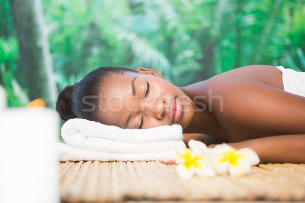 Mooie vrouw massage tabel spa vrouw naakt Stockfoto © wavebreak_media