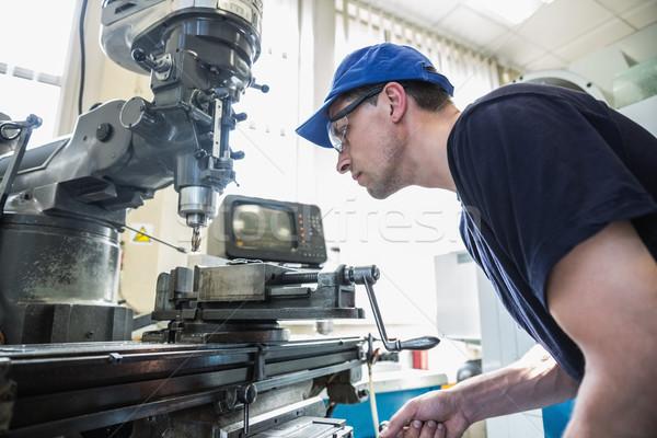 Ingegneria studente trapano Università uomo Foto d'archivio © wavebreak_media