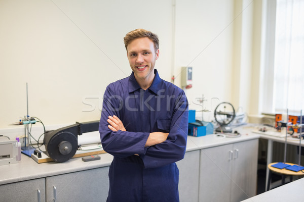 Engineering student smiling at camera Stock photo © wavebreak_media