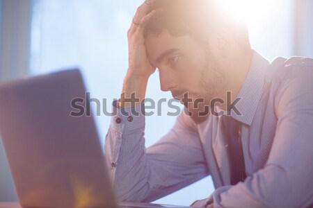 бизнесмен используя ноутбук столе выстрел студию компьютер Сток-фото © wavebreak_media