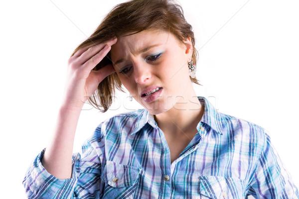 Dość brunetka głowy biały zdrowia kobiet Zdjęcia stock © wavebreak_media