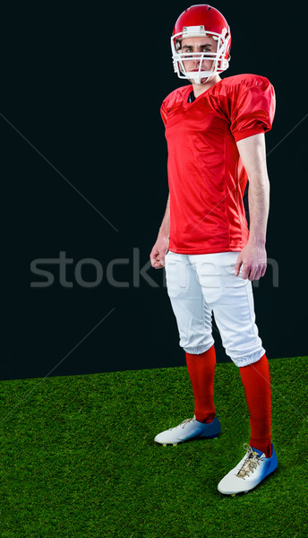 Ernstig amerikaanse voetballer helm naar Stockfoto © wavebreak_media