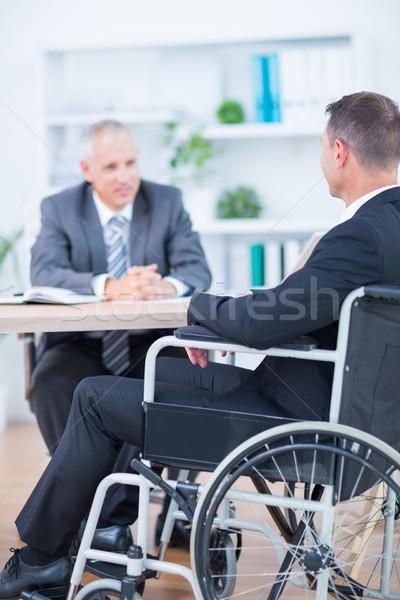 Zakenman rolstoel collega kantoor man Stockfoto © wavebreak_media