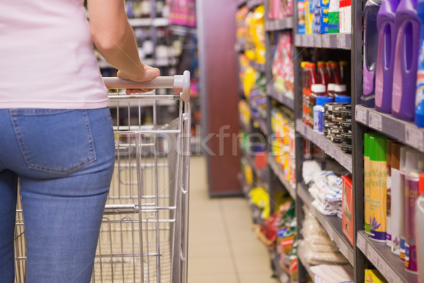 вид сзади женщину рынке корзины розничной Сток-фото © wavebreak_media
