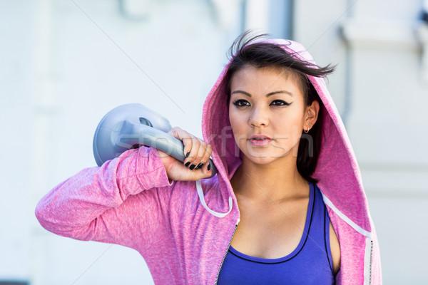 アスレチック 女性 ケトルベル 市 スポーツ ストックフォト © wavebreak_media