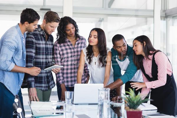 Creative business team working together Stock photo © wavebreak_media