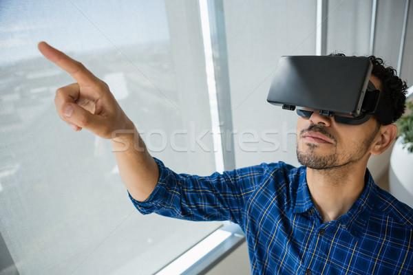 Wykonawczej faktyczny rzeczywistość zestawu biuro działalności Zdjęcia stock © wavebreak_media