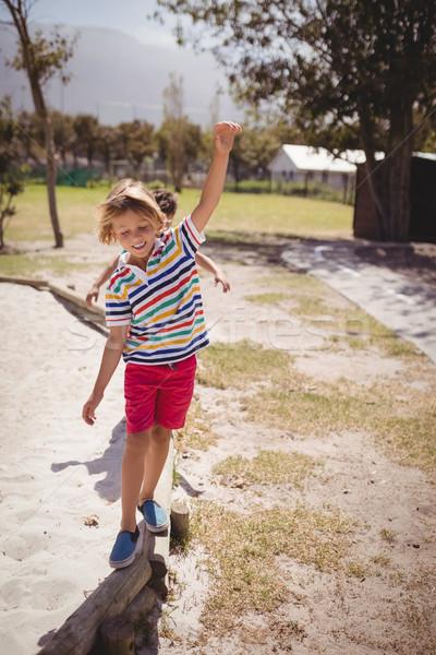 Szczęśliwy gry boisko szkoły kobieta Zdjęcia stock © wavebreak_media