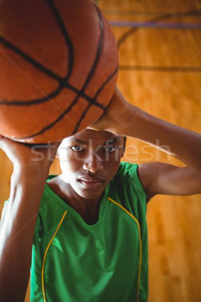 Portret koszykówki stałego sąd pióro Zdjęcia stock © wavebreak_media
