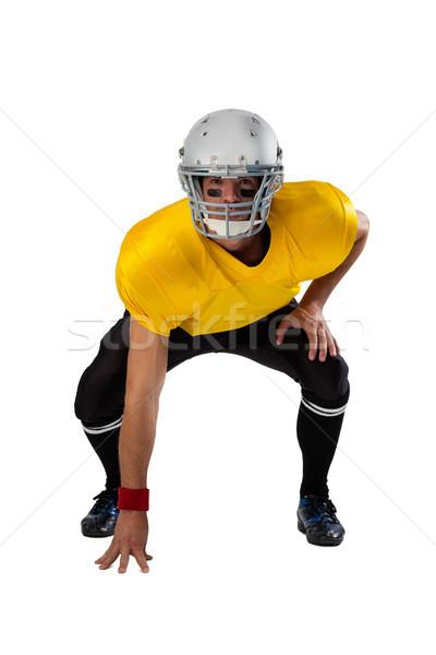 Portré amerikai futballista visel sisak görbület Stock fotó © wavebreak_media