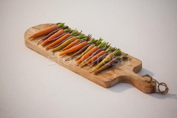 Carote tagliere bianco natura colazione formazione Foto d'archivio © wavebreak_media