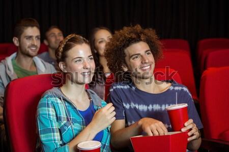 Happy couple watching movie in theatre Stock photo © wavebreak_media