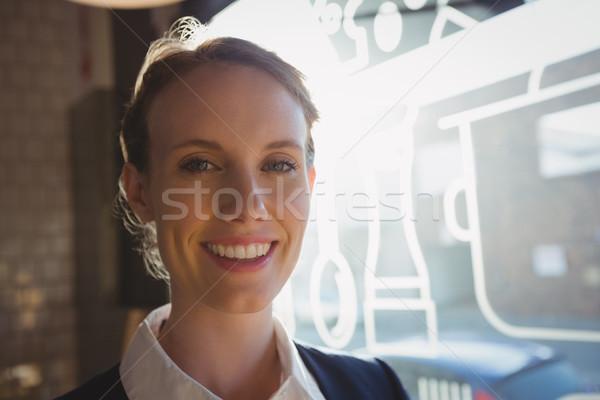 Portre sahip kafe gülen kadın iş Stok fotoğraf © wavebreak_media