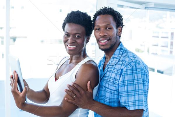 Retrato sonriendo marido esposa pie casa Foto stock © wavebreak_media