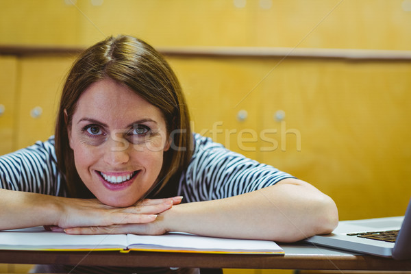 Mature student in lecture hall Stock photo © wavebreak_media