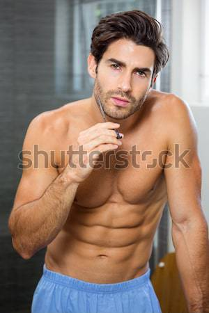 フィット 筋肉の 男 ポーズ シャツを着ていない crossfitの ストックフォト © wavebreak_media