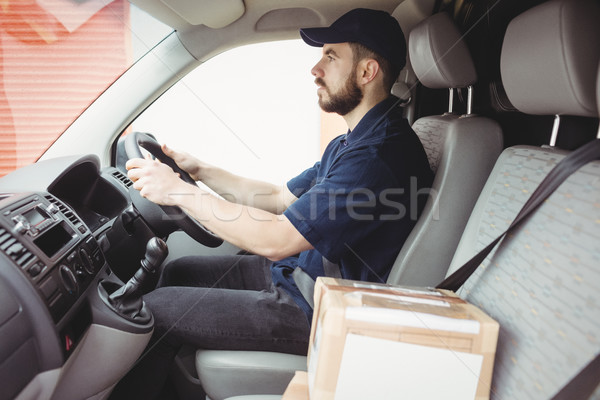Jazdy van pakiet front siedziba Zdjęcia stock © wavebreak_media