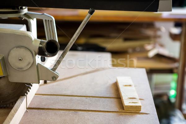 Imagem serra trabalhando oficina madeira estúdio Foto stock © wavebreak_media