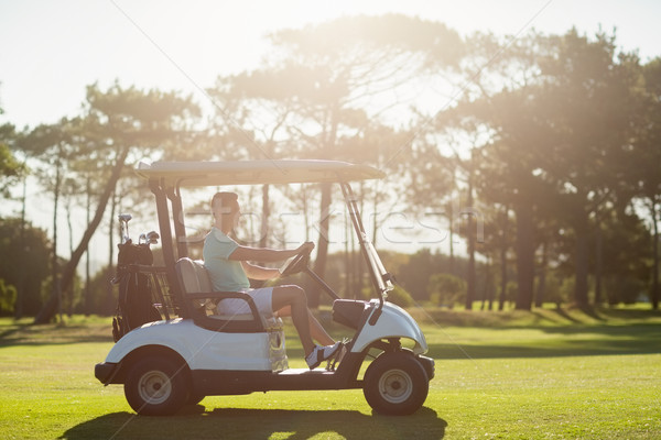 Side view of man sitting in golf buggy Stock photo © wavebreak_media