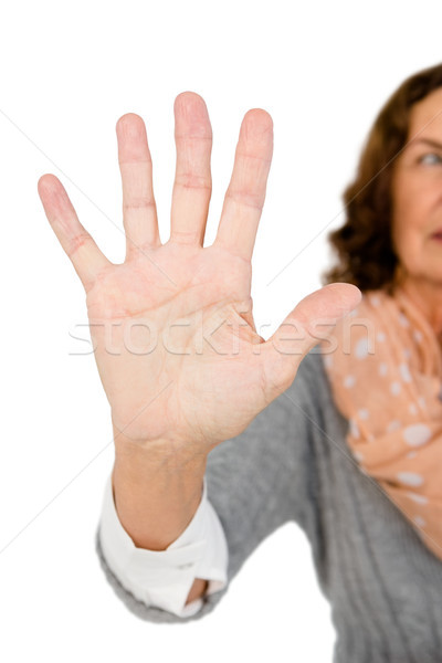 Cropped image of woman showing stop sign Stock photo © wavebreak_media