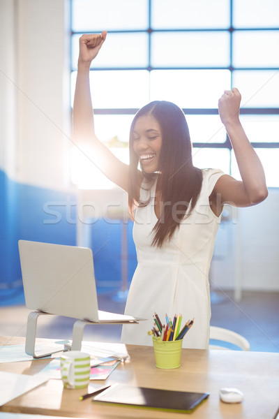 Business executive making fists in excitement Stock photo © wavebreak_media