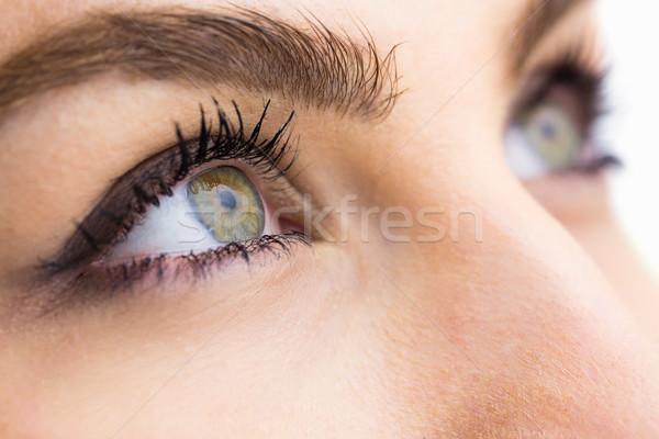 Bela mulher olho branco moda natureza Foto stock © wavebreak_media
