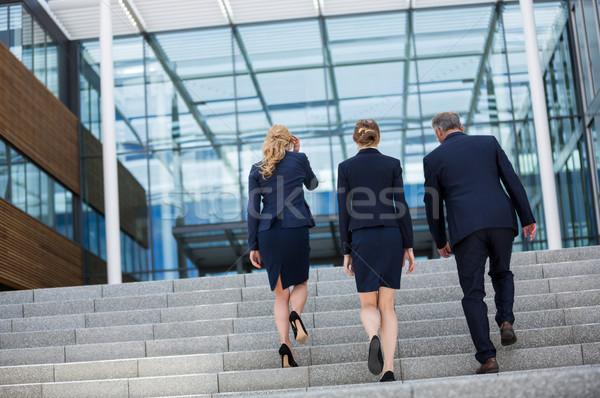 Tırmanma yukarı adımlar ofis kadın Stok fotoğraf © wavebreak_media